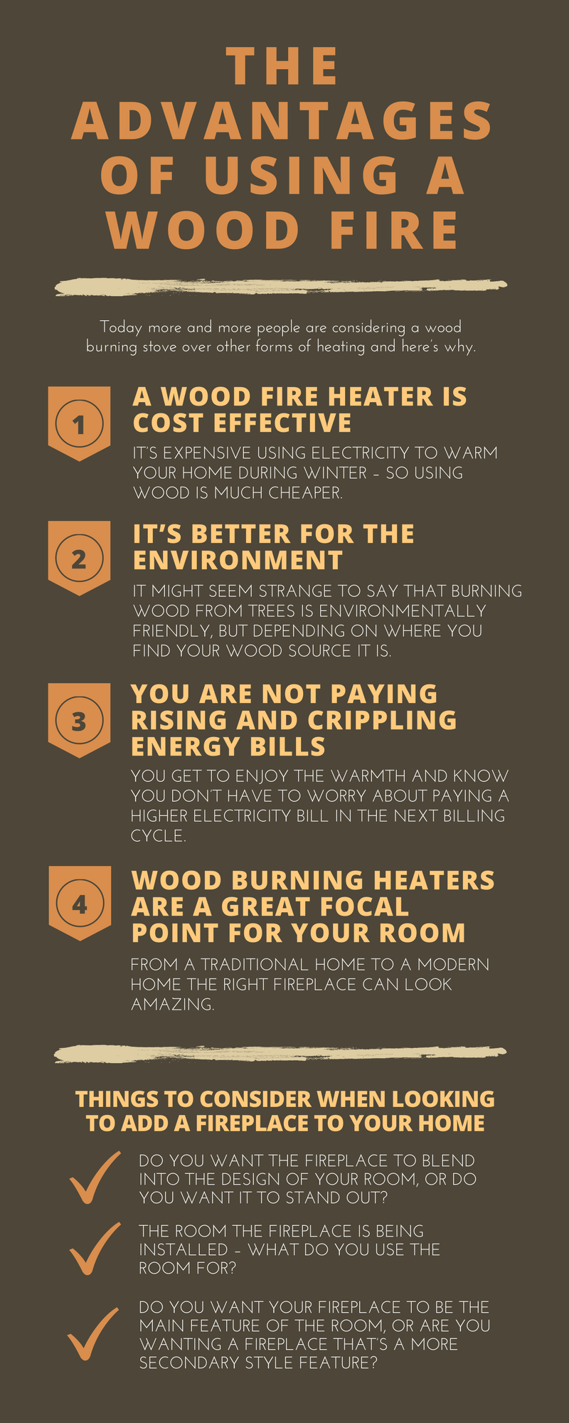 The Advantages of Using a Wood Fire