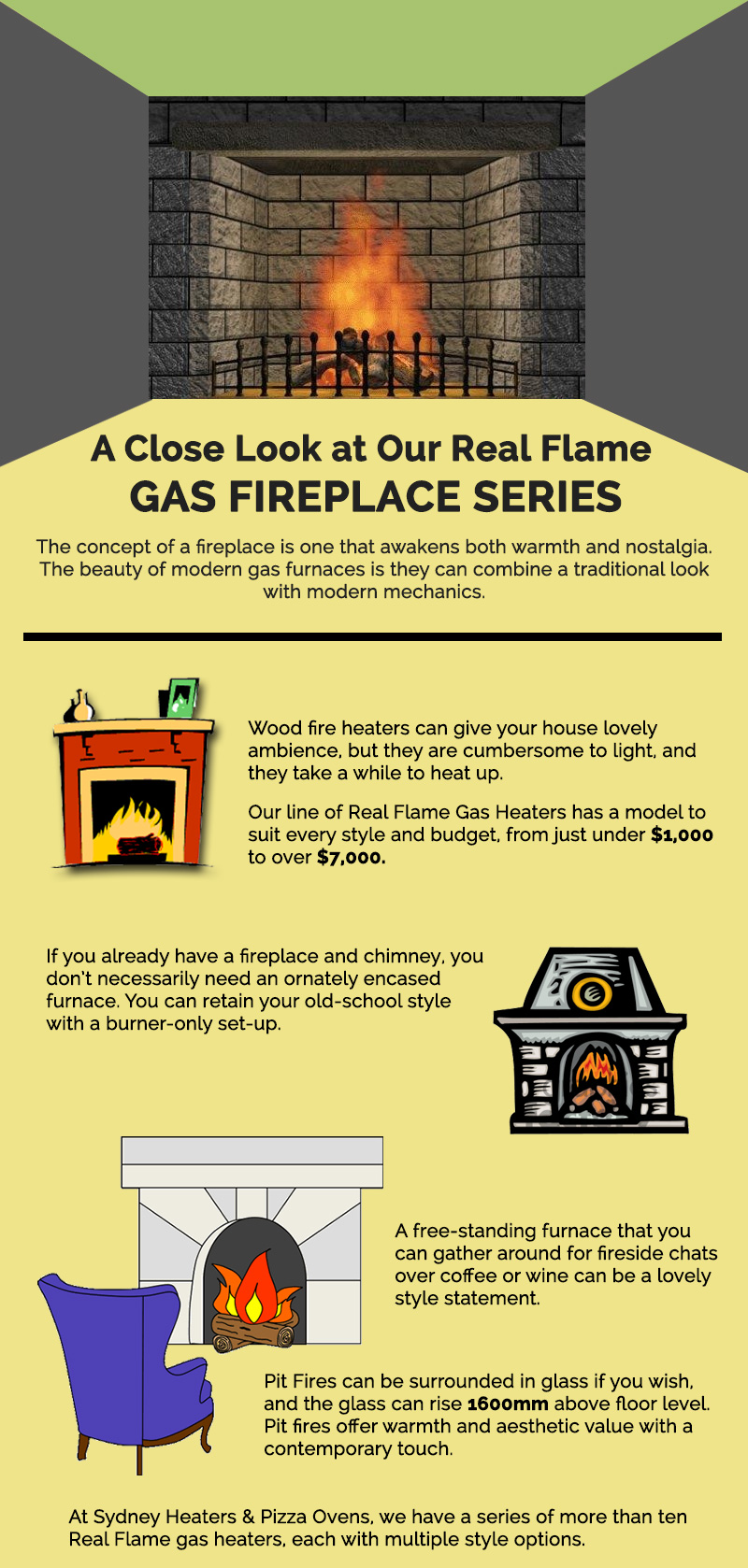 A Close Look at Our Real Flame Gas Fireplace Series