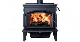 Quadrafire Explorer III Black Cast Iron Wood Heater