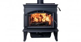 Quadrafire Explorer III Black Cast Iron Wood Heater